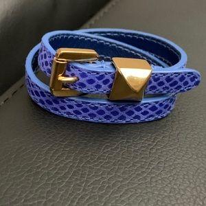 New Michael Kors Python Double Wrap Bracel…